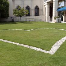 ハートの芝生