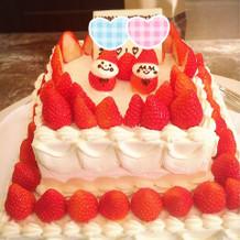 二次会にもケーキを準備してもらえました!