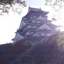 大坂城をみながら会場入り