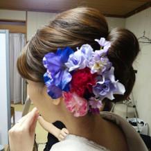 和装のお花はすべてお借りしました。