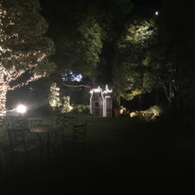 ガーデン披露宴が可能な会場