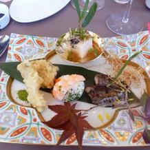 和洋折衷なお料理です。
