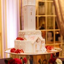 大隈講堂を模したウェディングケーキ