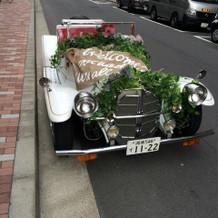 装飾していただいたオープンカー