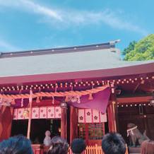 格式高い神社で式中