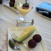 デザートのフルーツ等