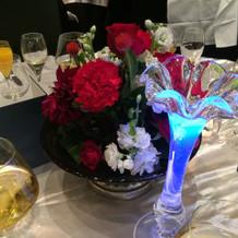 各席のテーブルサービスも綺麗でした。