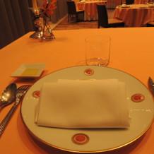 試食のテーブルコーディネート