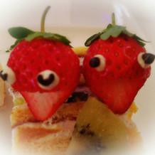 ケーキの上に乗せてくれたいちごです