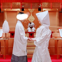 和装で挙式会場で前撮りできました。