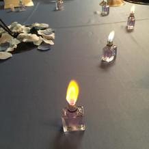 皆さんのテーブルを灯す愛の炎