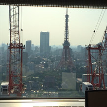 今なら東京タワーサイドはクレーンです