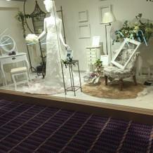 衣装室の展示。