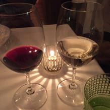 赤・白ワイン。