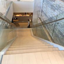 控室までの階段