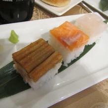 追加した押し寿司