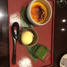 ブリュレに抹茶ソースめっちゃ合いました!