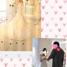 挙式時のマーメイドドレスです!