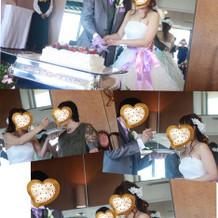 ケーキ入刀!!