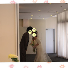 挙式時クロージングキスです!