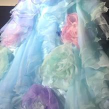 ドレスの下部分です。