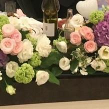 お花とバルーンを注文しました。