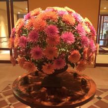 ホテルブレストンコート、ロビーの花