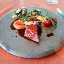 榛原牛のステーキ