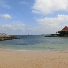 ホテルのプライベートビーチ