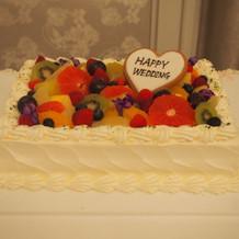 2次会のケーキ