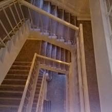 螺旋階段もお城のよう