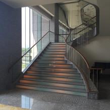 チャペルに続く階段