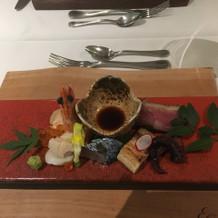 前菜。お箸で気軽に食べられる。