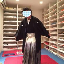 同じく和服の試着室。