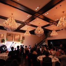 十分な広さの披露宴会場