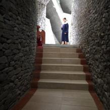 会場までの階段