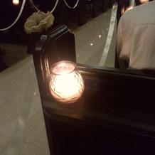 本物の蝋燭を使用していました。