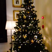 クリスマスシーズンにはツリーもあります