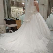 実際に着たドレス。チュールがかわいい!