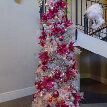 披露宴会場前のクリスマスツリー