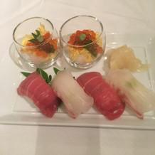 お寿司バー。