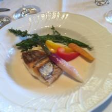 お魚、お野菜、ソース、絶品!