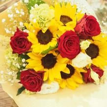サプライズで用意して頂いた花束です。