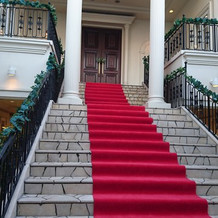 チャペルから続く大階段