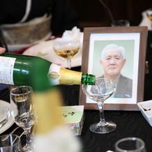 亡くなった祖父の分のシャンパン