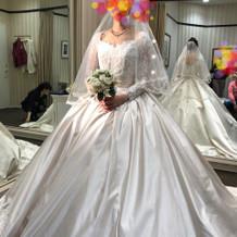 ウエディングドレス大好きでした