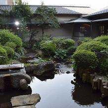 式場の庭園