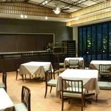 レストラン兼待合室