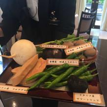 選べる付け合わせの京野菜