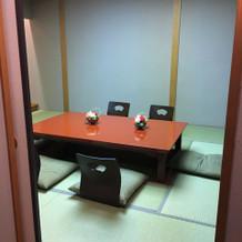 珍しい和室の親族控え室